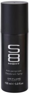Oriflame S8 Night deospray pre mužov 150 ml