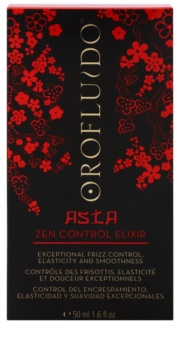 Orofluido Asia Zen elixir sem enxaguar para cabelos crespos e inflexíveis