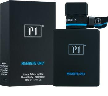 P1 Members Only eau de toilette per uomo 50 ml