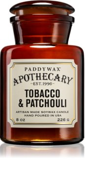 Paddywax Apothecary Tobacco & Patchouli scented candle