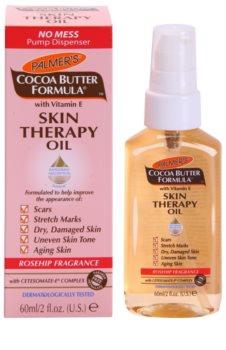 Palmer's Hand & Body Cocoa Butter Formula мултифункционално сухо масло за тяло и лице с аромат на шипка