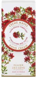 Panier des Sens Red Thyme crema energizante para manos