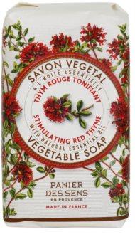 Panier des Sens Red Thyme povzbuzující rostlinné mýdlo