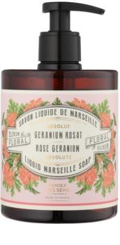 Panier des Sens Rose Geranium tekoče milo z dozirno črpalko