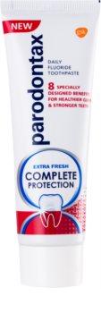 Parodontax Complete Protection Extra Fresh dentífrico com flúor para dentes e gengivas saudáveis