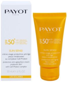 Payot Sun Sensi schützende Gesichtscreme für intolerante Haut gegen Alterserscheinungen SPF50+