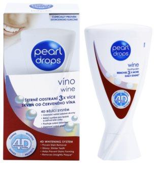 Pearl Drops Wine bleichende Zahnpasta gegen den dunklen Flecken