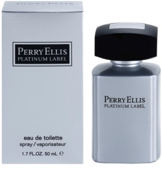 Perry Ellis Platinum Label Eau de Toilette para homens 50 ml