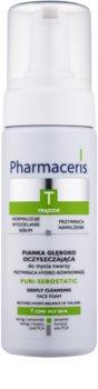 Pharmaceris T-Zone Oily Skin Puri-Sebostatic mousse nettoyante pour peaux sèches et irritées après un traitement anti-acné