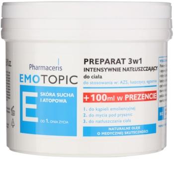 Pharmaceris E-Emotopic óleo intenso de cuidado corporal para adultos e crianças 3 em 1