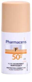 Pharmaceris F-Fluid Foundation zaščitni prekrivni tekoči puder SPF 50+