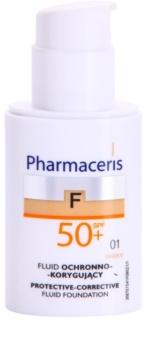 Pharmaceris F-Fluid Foundation ochranný krycí make-up SPF50+