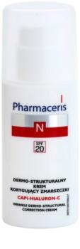 Pharmaceris N-Neocapillaries Capi-Hyaluron-C Creme antirrugas, restaurador da densidade da pele para a pele sensível com tendência a aparecer com vermelhidão