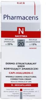 Pharmaceris N-Neocapillaries Capi-Hyaluron-C a bőr sűrűségét megújító ránc elleni krém Érzékeny, bőrpírra hajlamos bőrre