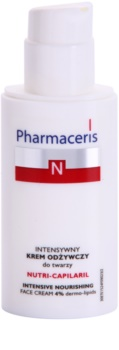Pharmaceris N-Neocapillaries Nutri-Capilaril výživný zklidňující krém pro citlivou pleť se sklonem ke zčervenání s bambuckým máslem