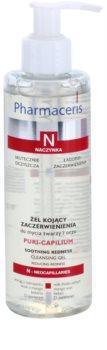 Pharmaceris N-Neocapillaries Puri-Capilium gel de limpeza apaziguador para pele sensível e com vermelhidão