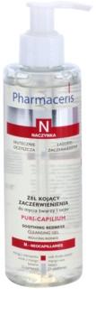 Pharmaceris N-Neocapillaries Puri-Capilium upokojujúci čistiaci gél pre citlivú pleť so začervenaním
