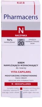 Pharmaceris N-Neocapillaries Vita-Capilaril crema hidratante y fortalecedora para rostro  para pieles sensibles con tendencia a las rojeces