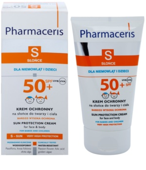 Pharmaceris S-Sun Beschermende Crème voor Kinderen  SPF 50+