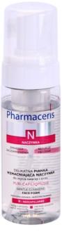 Pharmaceris N-Neocapillaries Puri-Capiliqmousse čistilna pena za odstranjevanje ličil za razpokane in razširjene žilice