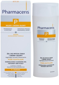 Pharmaceris P-Psoriasis Puri-Ichtilium mycí gel na tělo a pokožku hlavy při projevech lupénky
