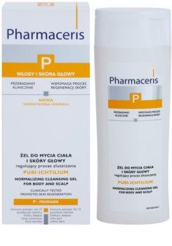 Pharmaceris P-Psoriasis Puri-Ichtilium Waschgel für Körper und Kopfhaut bei Anzeichen von Schuppenflechte