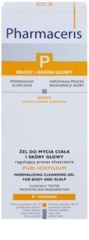 Pharmaceris P-Psoriasis Puri-Ichtilium gel za umivanje tela in lasišča za luskavico