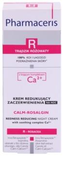 Pharmaceris R-Rosacea Calm-Rosalgin pomirjajoča nočna krema za občutljivo kožo, nagnjeno k rdečici