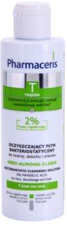 Pharmaceris T-Zone Oily Skin Sebo-Almond-Claris água de limpeza para o rosto, decote e costas para pele problemática