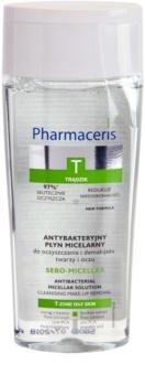 Pharmaceris T-Zone Oily Skin Sebo-Micellar água micelar de limpeza para pele problemática, acne