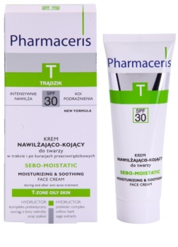 Pharmaceris T-Zone Oily Skin Sebo-Moistatic hydratačný a ukľudňujúci krém pre pleť vysušenú a podráždenú liečbou akné