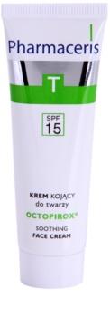 Pharmaceris T-Zone Oily Skin Octopirox crema giorno lenitiva contro gli arrossamenti per pelli grasse e problematiche