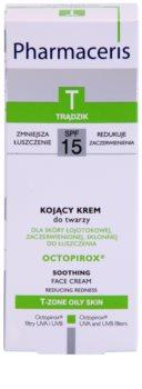 Pharmaceris T-Zone Oily Skin Octopirox zklidňující denní krém proti zarudnutí pro mastnou a problematickou pleť