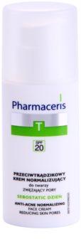Pharmaceris T-Zone Oily Skin Sebostatic Day PorenverfeinerndeTagescreme für problematische Haut, Akne