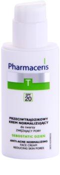 Pharmaceris T-Zone Oily Skin Sebostatic Day denný krém na stiahnutie pórov pre problematickú pleť, akné