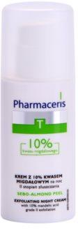 Pharmaceris T-Zone Oily Skin Sebo-Almond Peel crema facial de noche reguladora y limpiadora para redensificar la piel