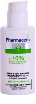Pharmaceris T-Zone Oily Skin Sebo-Almond Peel regulujący i oczyszczający krem do twarzy na noc do odnowy powierzchni skóry