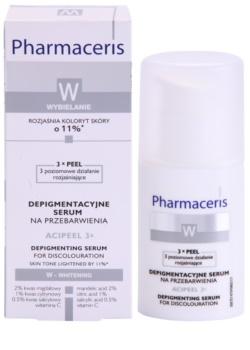 Pharmaceris W-Whitening Acipeel 3x sérum corretor clareador antimanchas com vitamina C