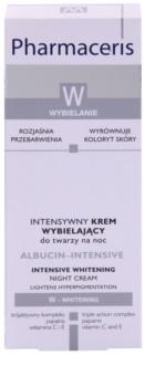 Pharmaceris W-Whitening Albucin-Intesive creme de noite intensivo para manchas de pigmentação
