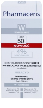 Pharmaceris W-Whitening Melacyd bleichende Creme gegen Pigmentflecken