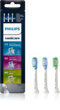 Philips Sonicare Premium Combination Standard HX9073/07 cabeças de reposição para escova de dentes