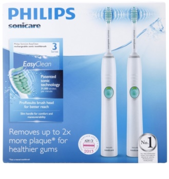 Philips Sonicare EasyClean HX6511/35 Sonic Electric Toothbrush, 2 shafts