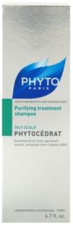 Phyto Phytocédrat ošetrujúci a posilňujúci šampón pre mastnú pokožku hlavy