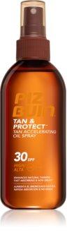 Piz Buin Tan & Protect napozást elősegítő védő olaj SPF 30