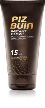 Piz Buin Instant Glow verhelderende zonnebrandcrème SPF15
