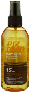 Piz Buin Wet Skin спрей для засмаги SPF 15