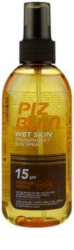 Piz Buin Wet Skin sprej na opalování SPF 15