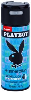 Playboy Generation Skin Touch deospray per uomo 150 ml