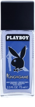 Playboy King Of The Game Deo mit Zerstäuber Herren 75 ml