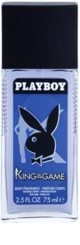 Playboy King Of The Game déodorant avec vaporisateur pour homme 75 ml